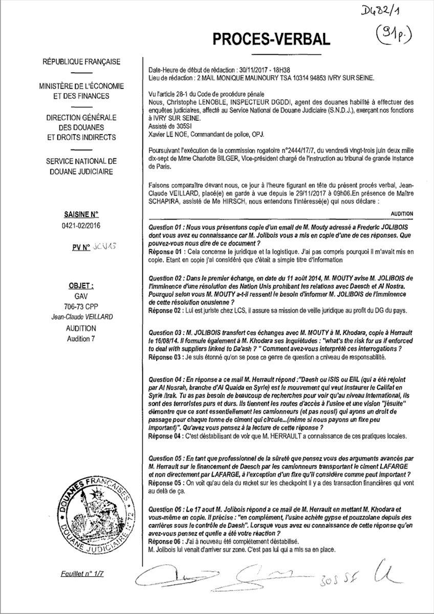 Lafarge ın DEAŞ ile ilişkisini Fransa istihbaratına bildirdiği belgeler #3