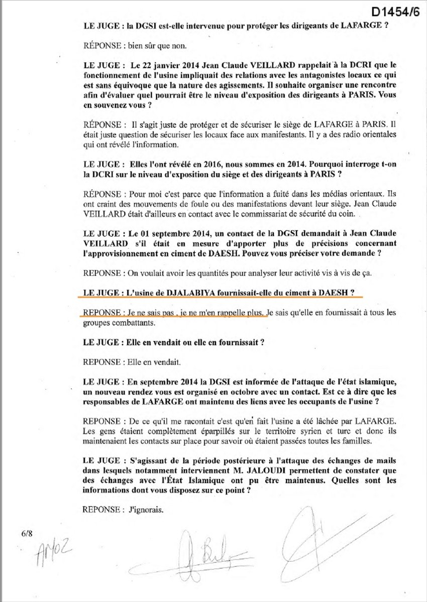 Lafarge ın DEAŞ ile ilişkisini Fransa istihbaratına bildirdiği belgeler #8