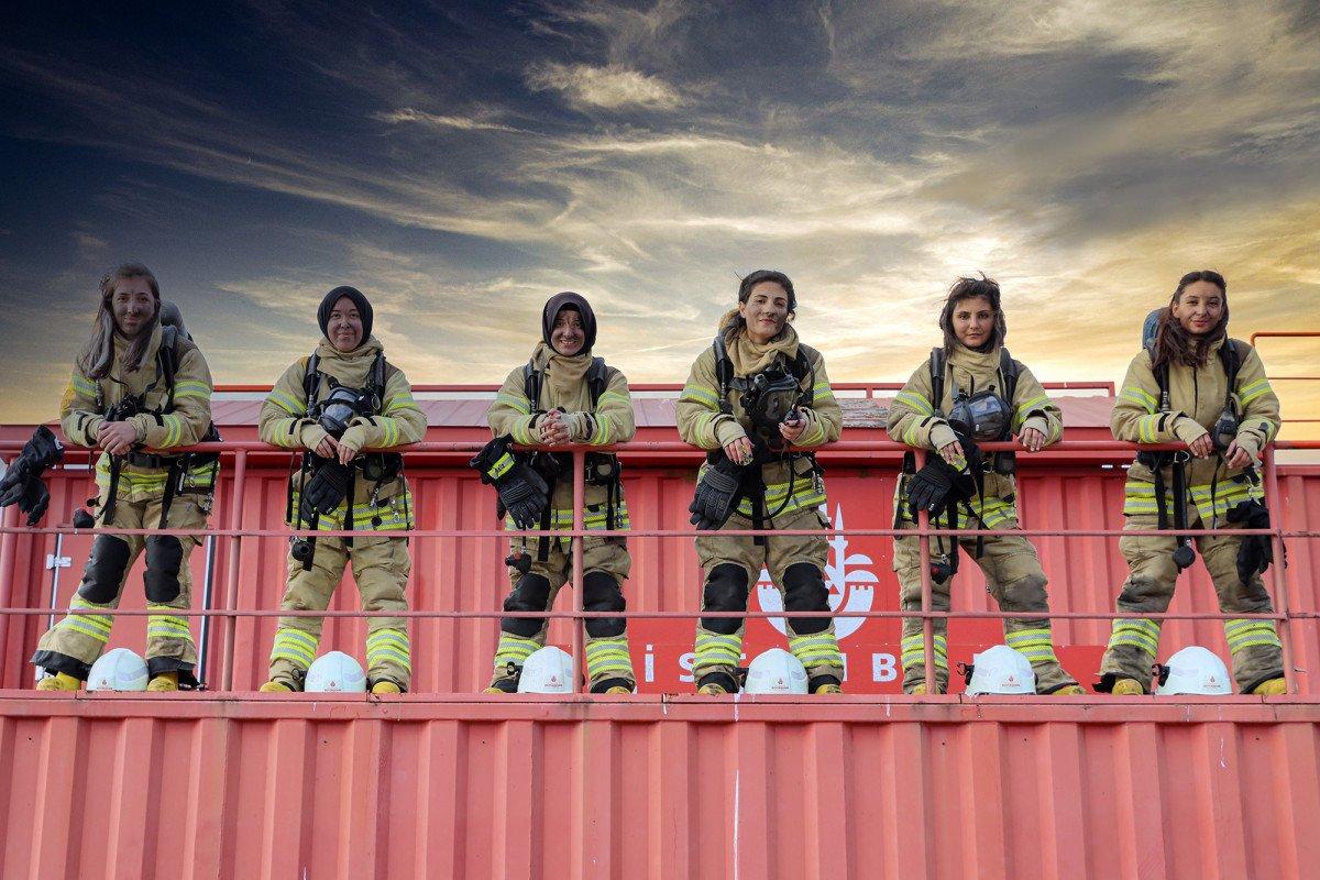 İstanbul da kadın itfaiyeciler göreve hazır #6