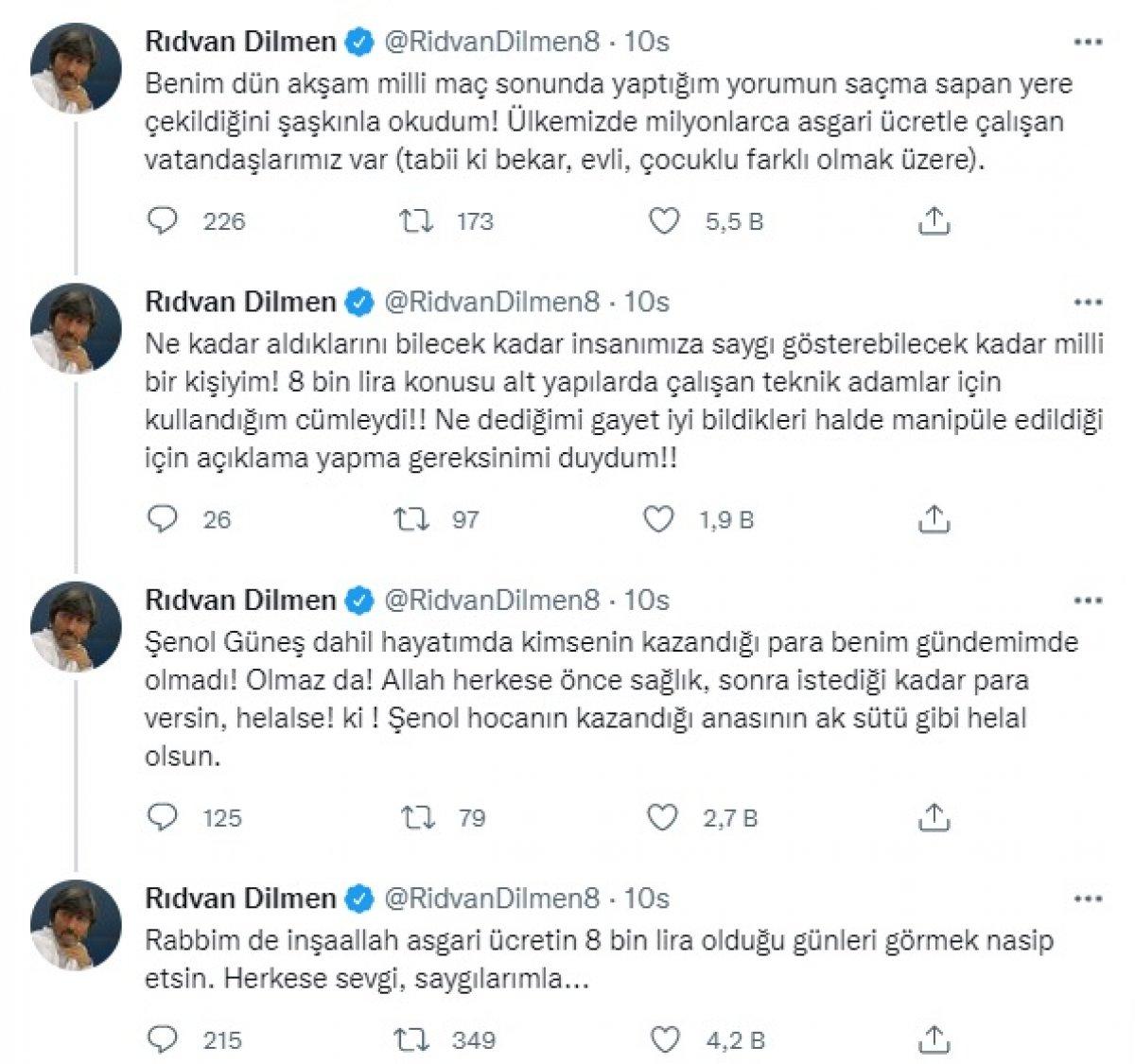 8 bin liraya çalışan insanlar var  demişti! Rıdvan Dilmen o sözlerine açıklık getirdi #2