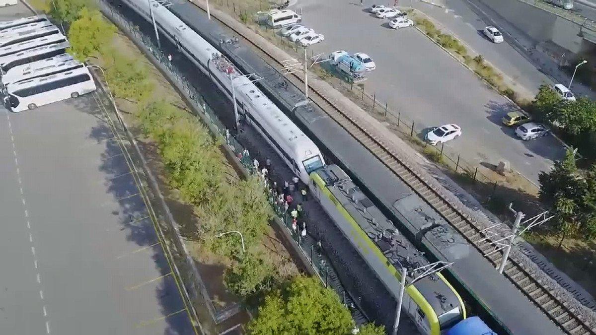 Tuzla da duramayan tren, istasyonda bekleyen trene arkadan çarptı #6