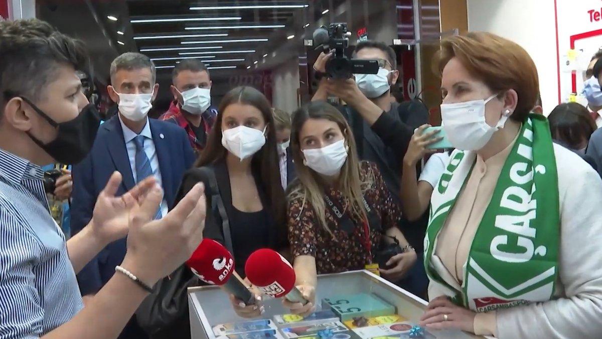 Samsun'da esnaftan Meral Akşener'e Netanyahu tepkisi #1