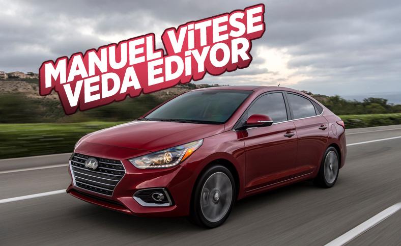 Hyundai Accent manuel vitese veda ediyor