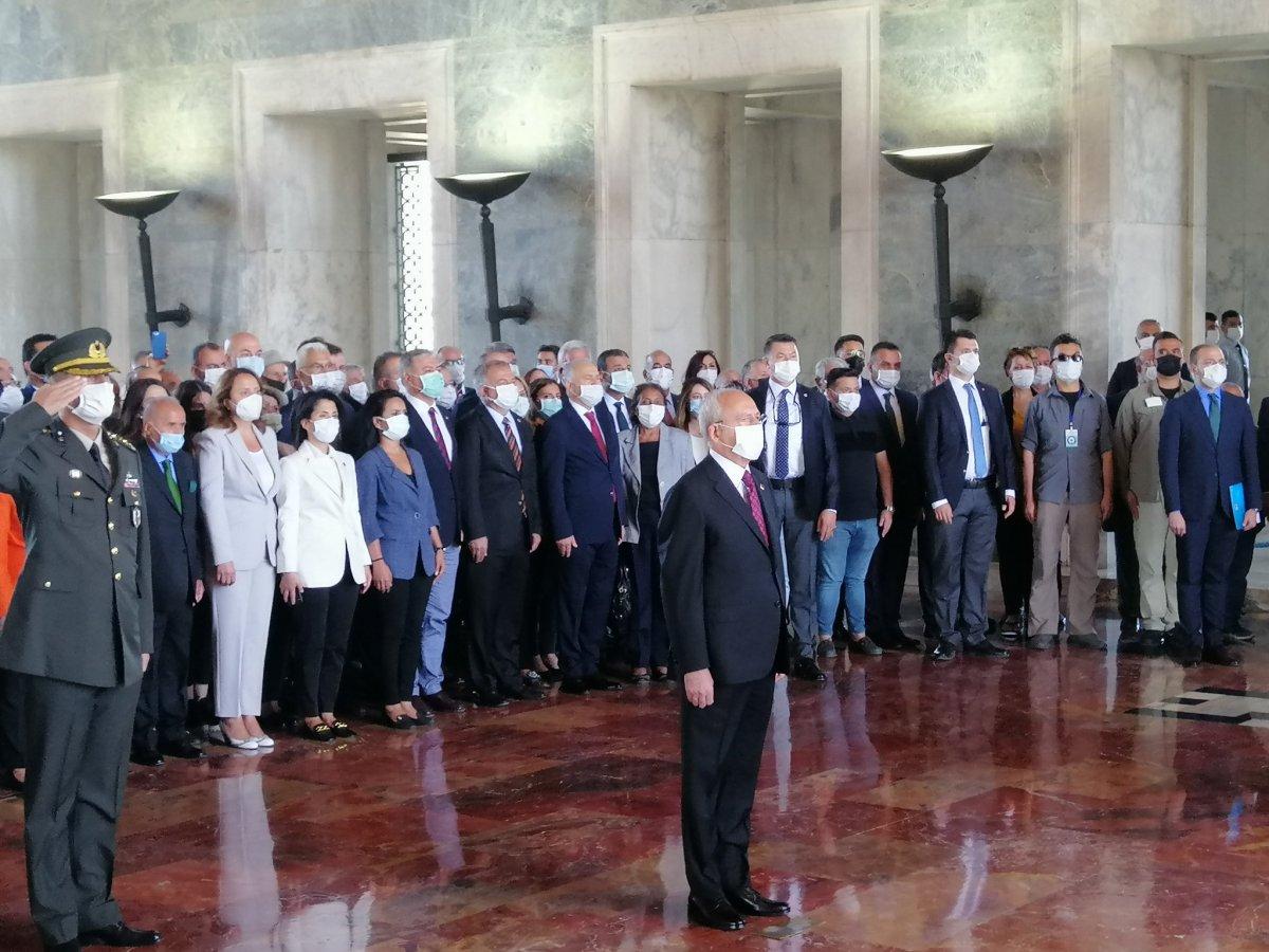 CHP, kuruluşunun 98 inci yıl dönümünde Anıtkabir de #1