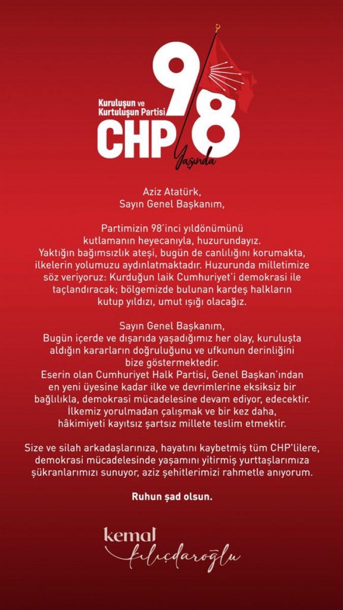 CHP, kuruluşunun 98 inci yıl dönümünde Anıtkabir de #4