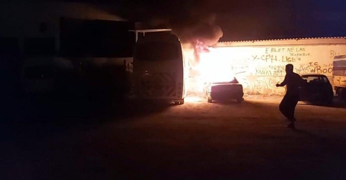 Denizli'de madde bağımlısı genç, otomobili ateşe verdi #1