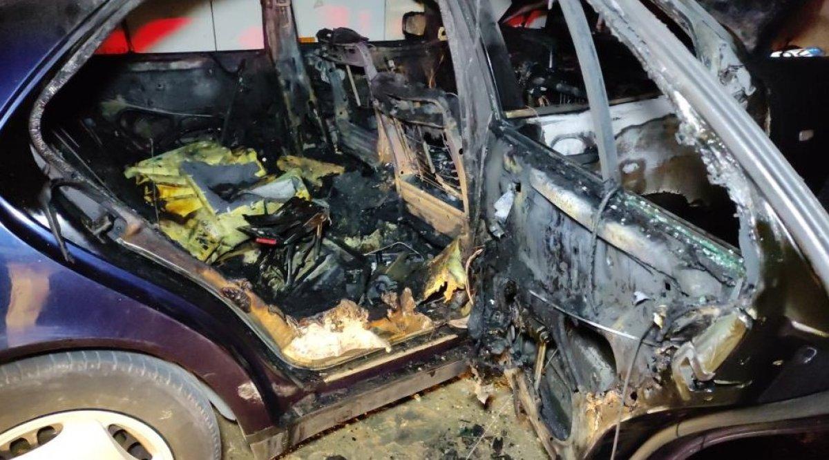 Denizli'de madde bağımlısı genç, otomobili ateşe verdi #6