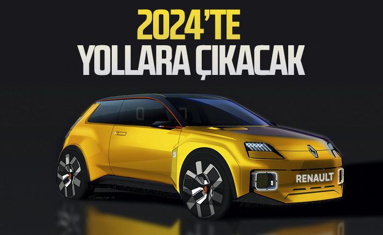 Elektrikli Renault 5, 2024'te geliyor