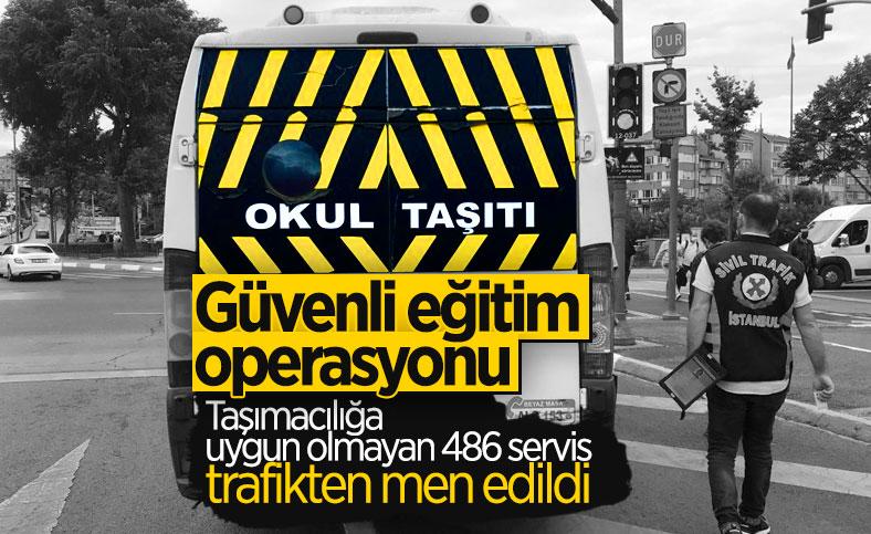 Ülke genelinde denetim: 486 okul servis aracı trafikten men edildi