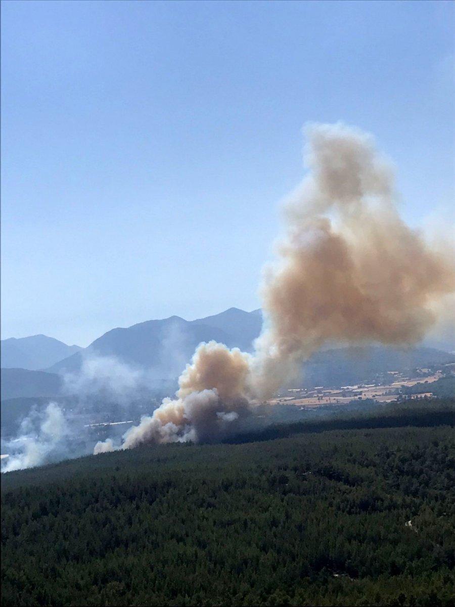 Kaş ta orman yangını #3