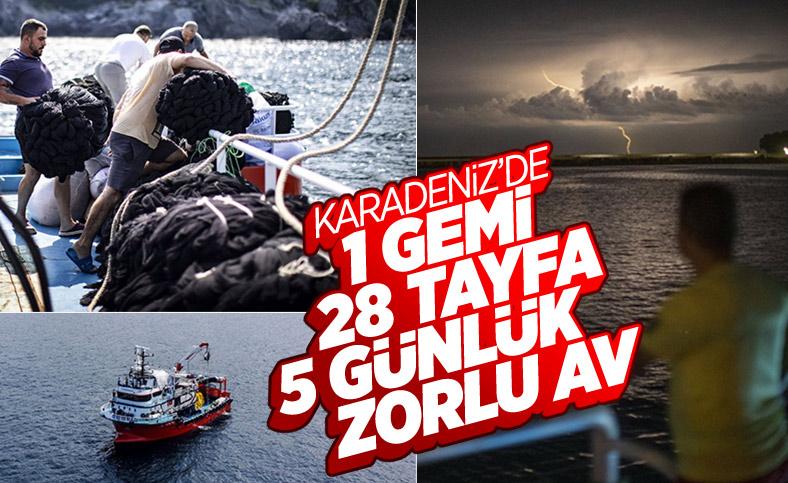 Balıkçıların denizde 5 günlük zorlu mesaisi