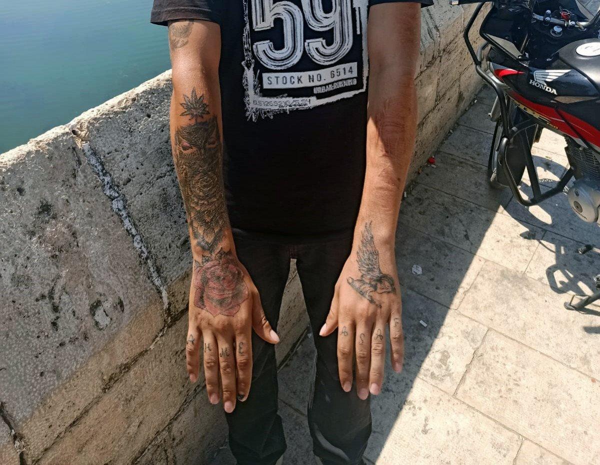 Adana da kapkaççıyı dövmeleri ele verdi #3
