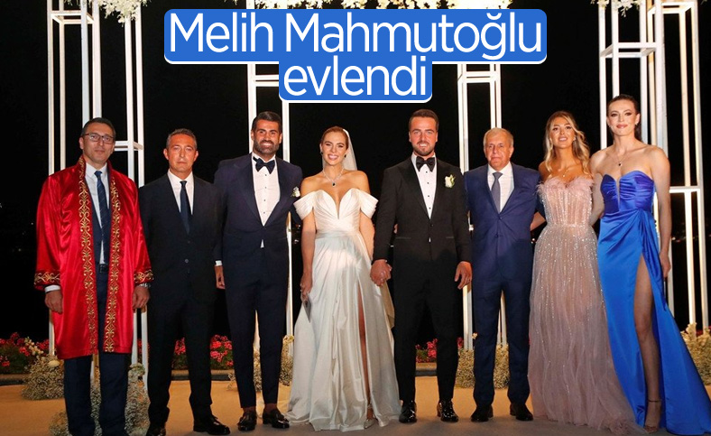 Fenerbahçeli Melih Mahmutoğlu, Damla Çakıroğlu ile evlendi