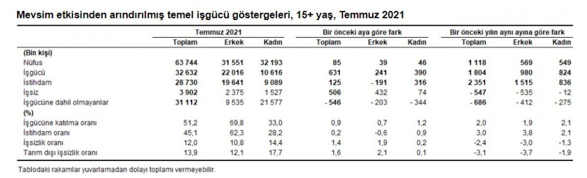 Temmuz ayı işsizlik rakamları açıklandı #2
