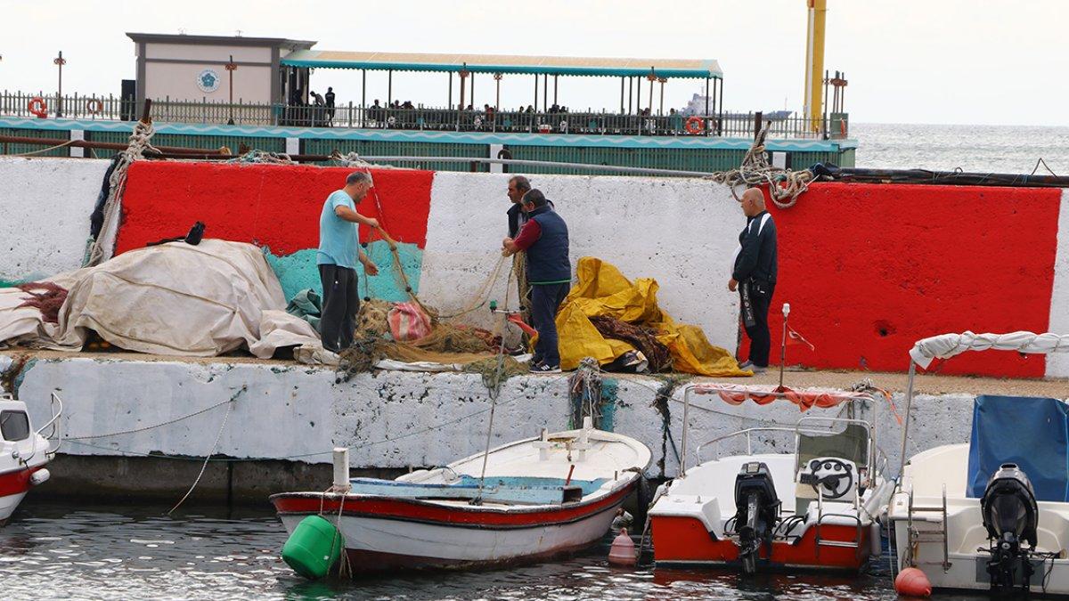 Tekirdağ daki balıkçıların zorunlu  poyraz  arası bugün bitiyor #1