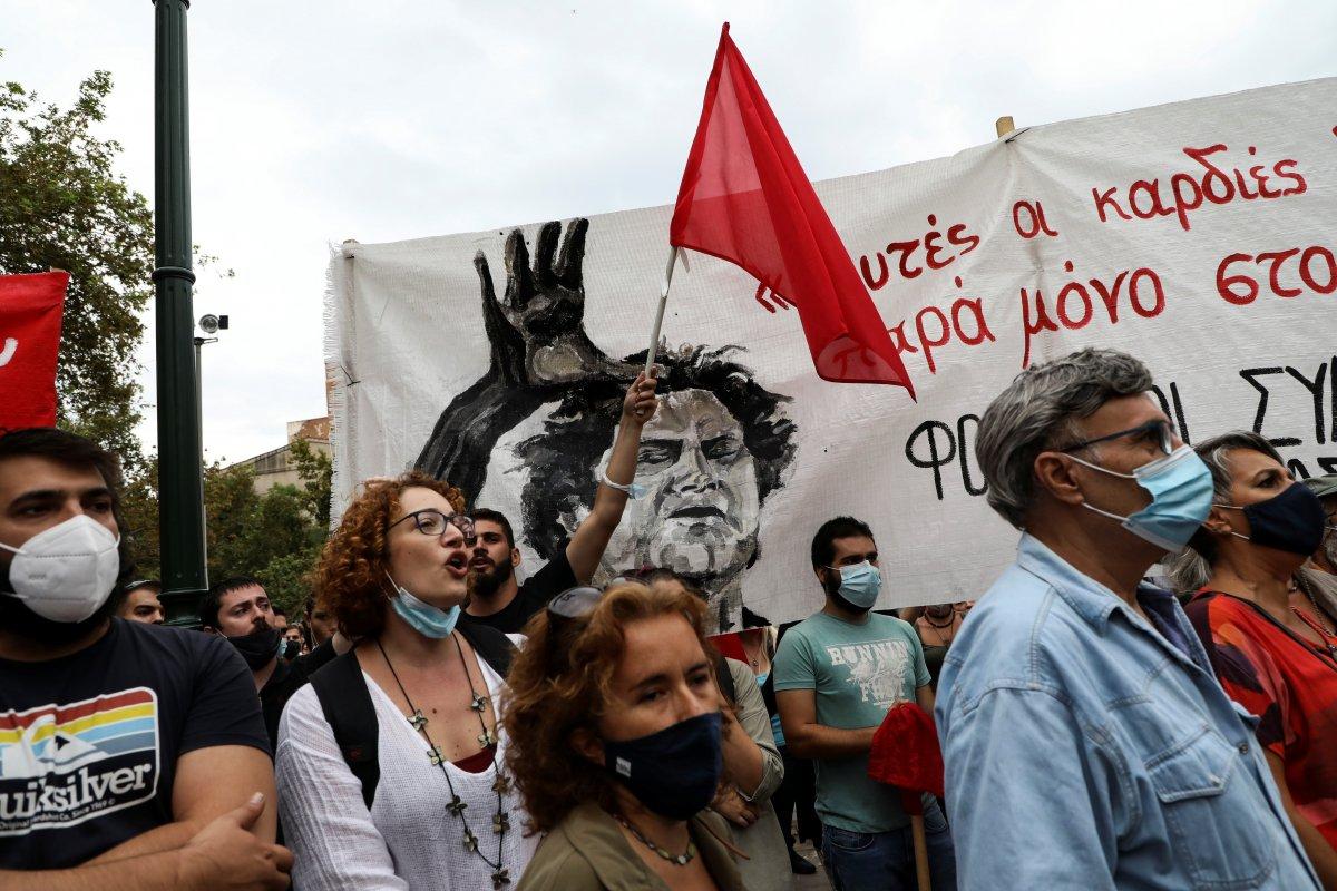 Türk dostu Yunan sanatçı Theodorakis, son yolculuğuna uğurlandı #3