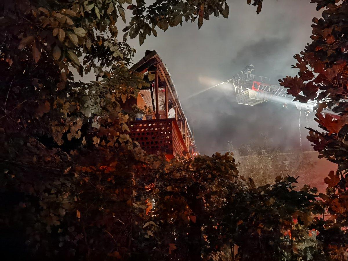 Zonguldak ta iki katlı binada yangın meydana geldi #1