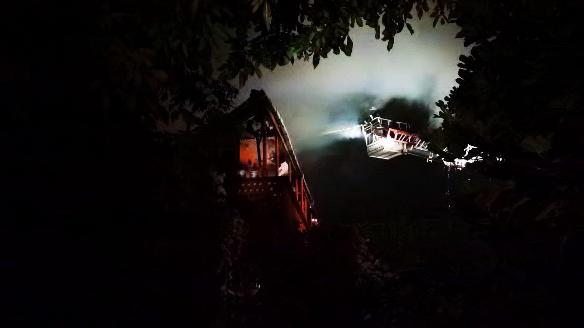 Zonguldak ta iki katlı binada yangın meydana geldi #2