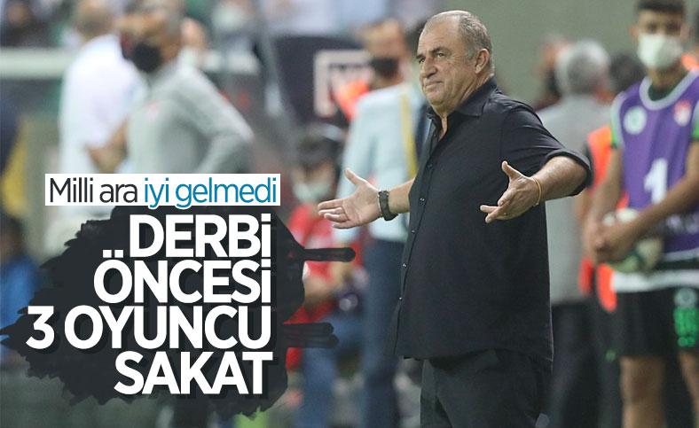 Galatasaray'da derbi öncesi eksikler var