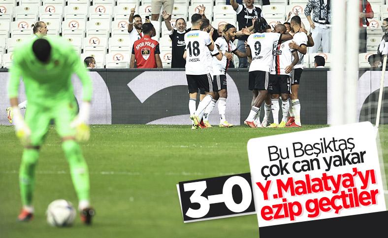 Beşiktaş, Yeni Malatyaspor'u 3 golle yendi
