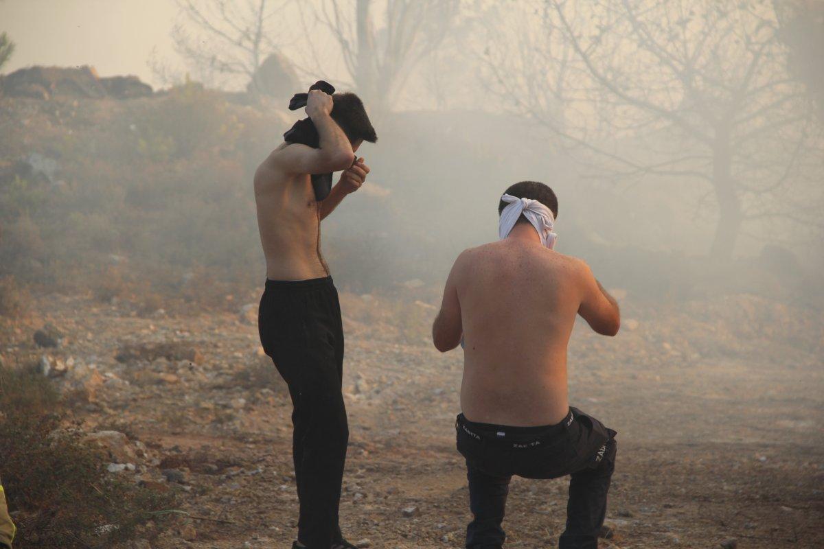 İzmir de ormanlık alanda çıkan yangın kontrol altında #5