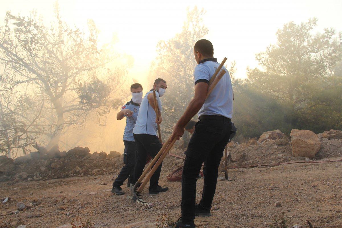 İzmir de ormanlık alanda çıkan yangın kontrol altında #4