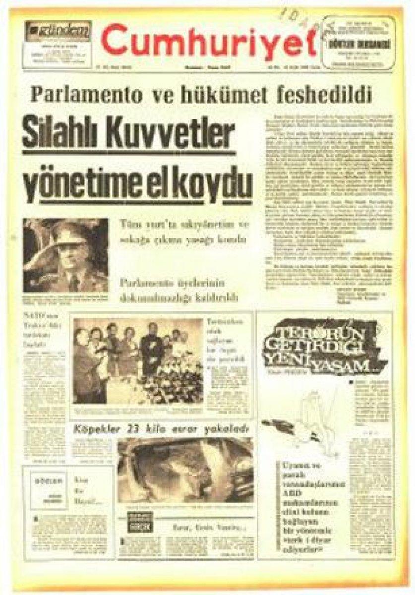 Vakanüvis yazdı: 12 Eylül basınını hatırlayalım  #5