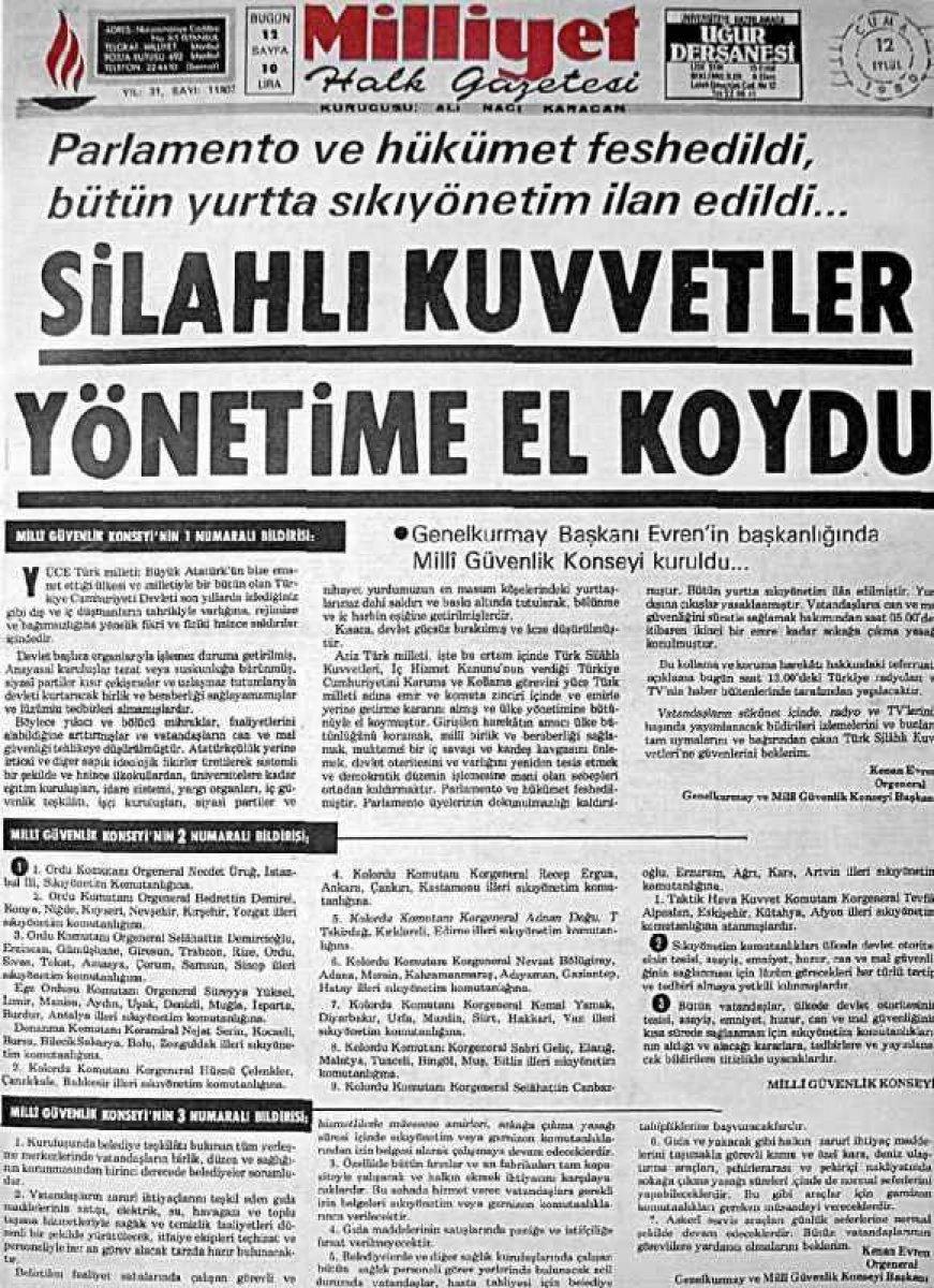 Vakanüvis yazdı: 12 Eylül basınını hatırlayalım  #3