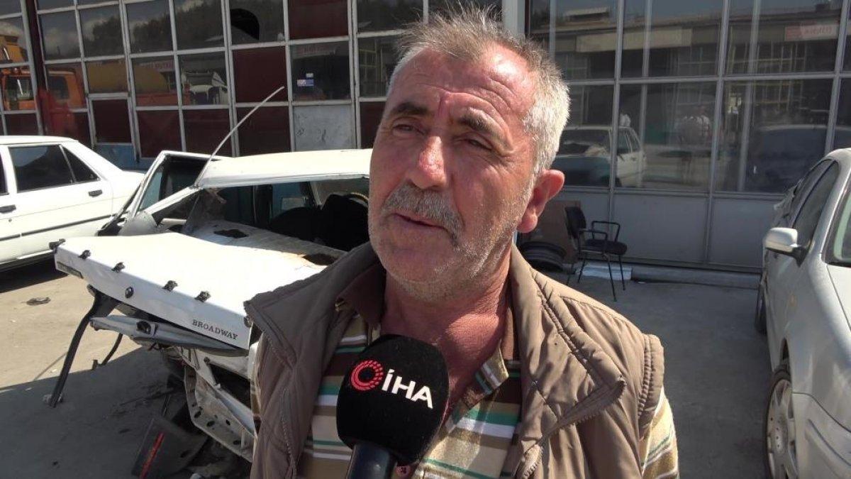 Amasya da seyir halindeyken uyuyan sürücü kaza yaptı #6