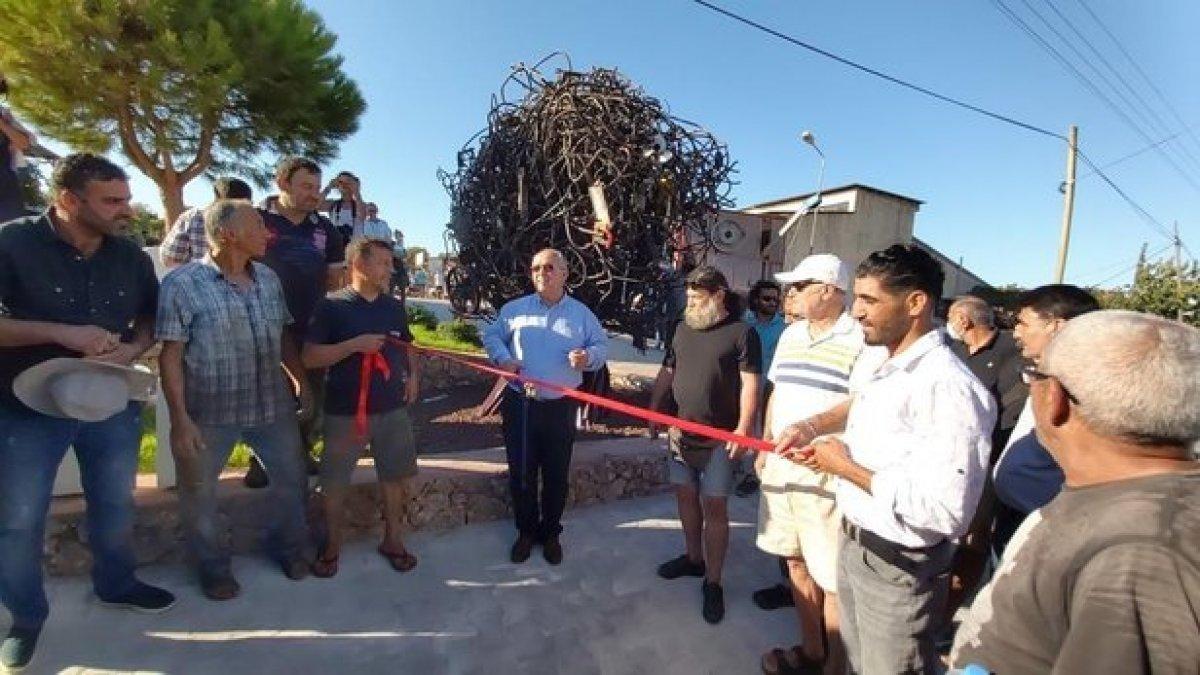 CHP li Datça Belediyesi Sanayi Ağacı heykelinin açılışını yaptı #1