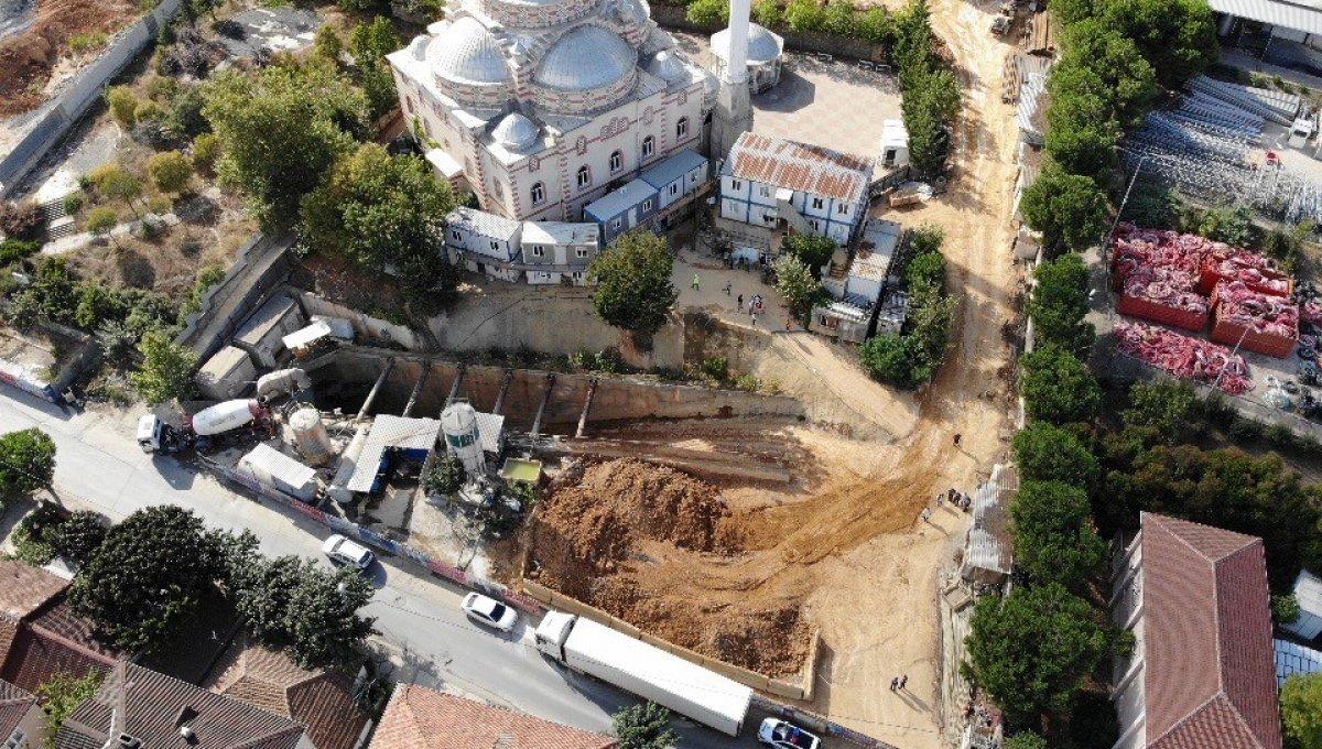 Sancaktepe'de İBB nin metro inşaat alanında göçük yaşandı #3