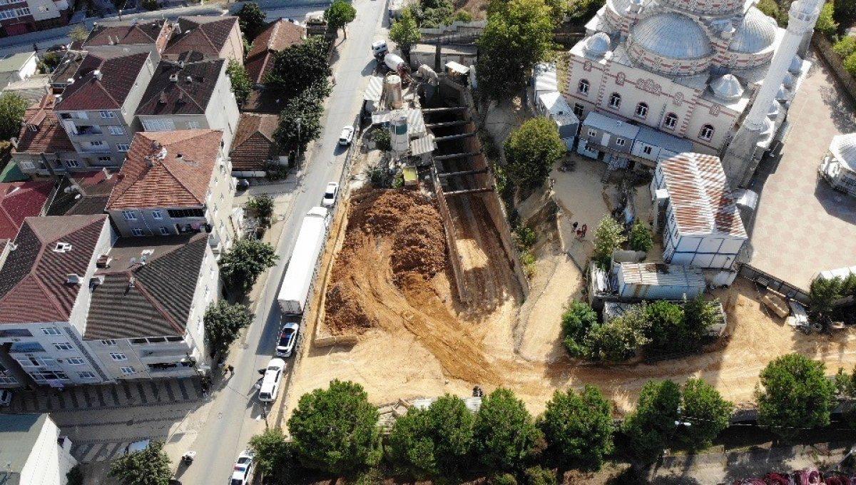 Sancaktepe'de İBB nin metro inşaat alanında göçük yaşandı #4