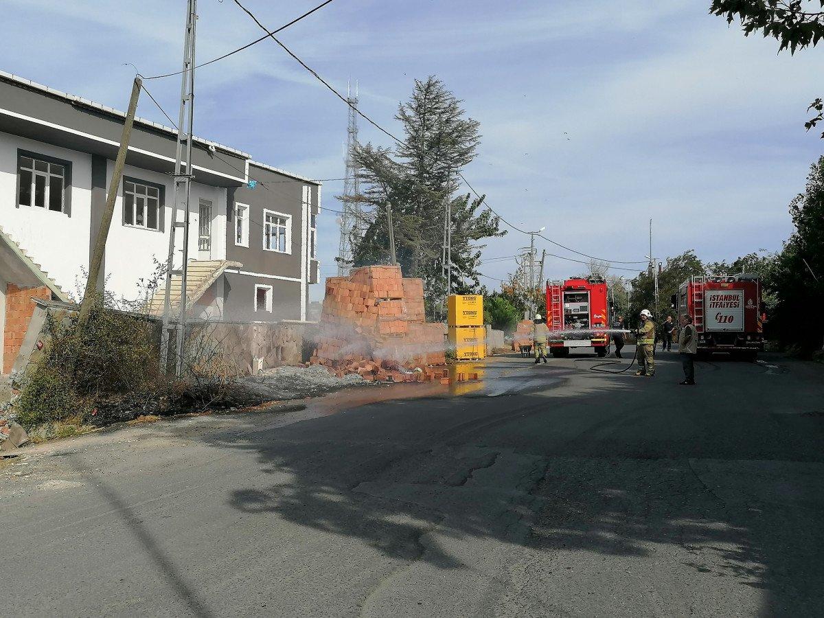 Silivri de doğalgaz kutusu yandı #1