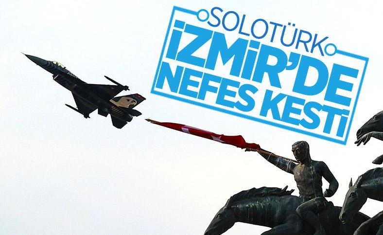 SOLOTÜRK ekibinden İzmir'de büyüleyen gösteri uçuşu