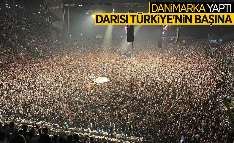 Danimarka'daki stadyumda 50 bin kişilik konser