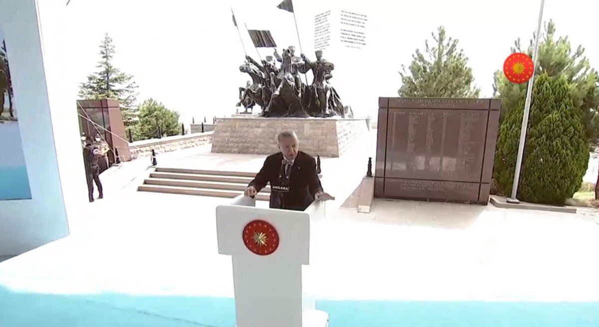 Cumhurbaşkanı Erdoğan, Sakarya Zaferi nin 100 üncü yıl kutlamasında #1