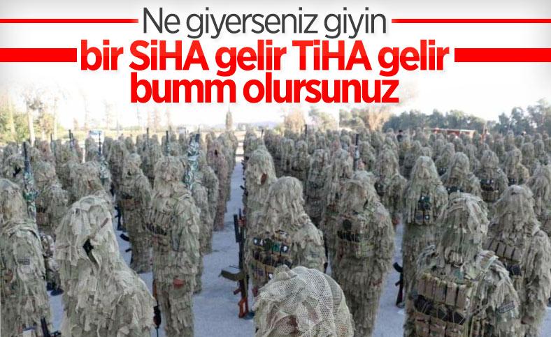 PKK'lı teröristlere yeni kamuflaj gönderildi