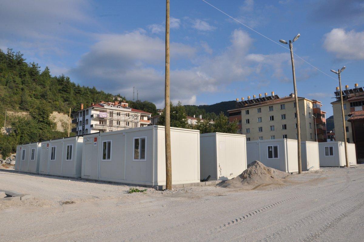 Kastamonu'da, selzedeler için  konteyner evler inşa ediliyor #1