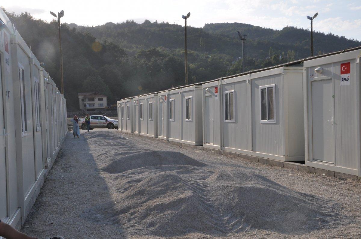 Kastamonu'da, selzedeler için  konteyner evler inşa ediliyor #5