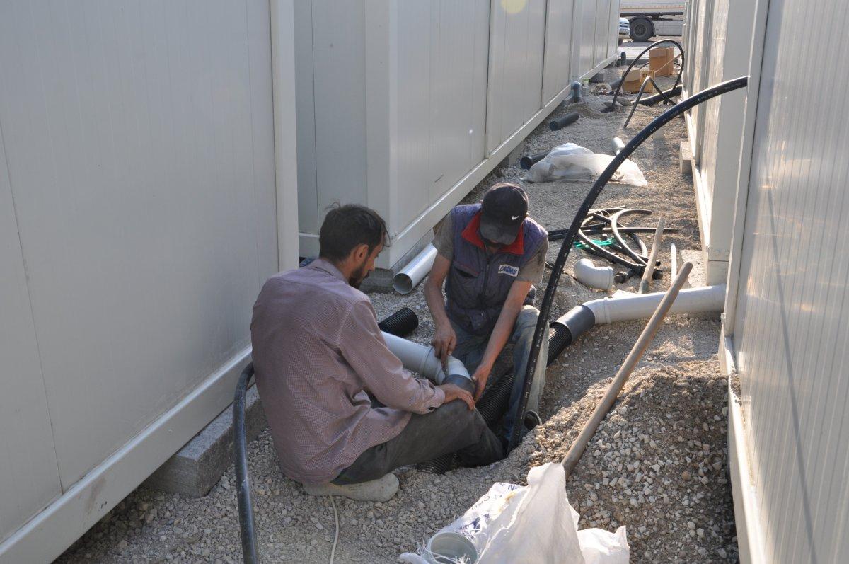 Kastamonu'da, selzedeler için  konteyner evler inşa ediliyor #6