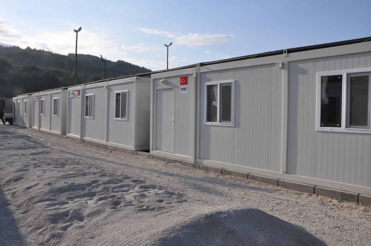 Kastamonu'da, selzedeler için  konteyner evler inşa ediliyor #10
