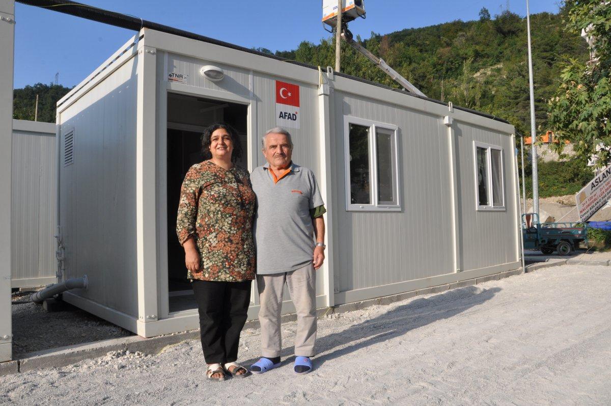 Kastamonu'da, selzedeler için  konteyner evler inşa ediliyor #4