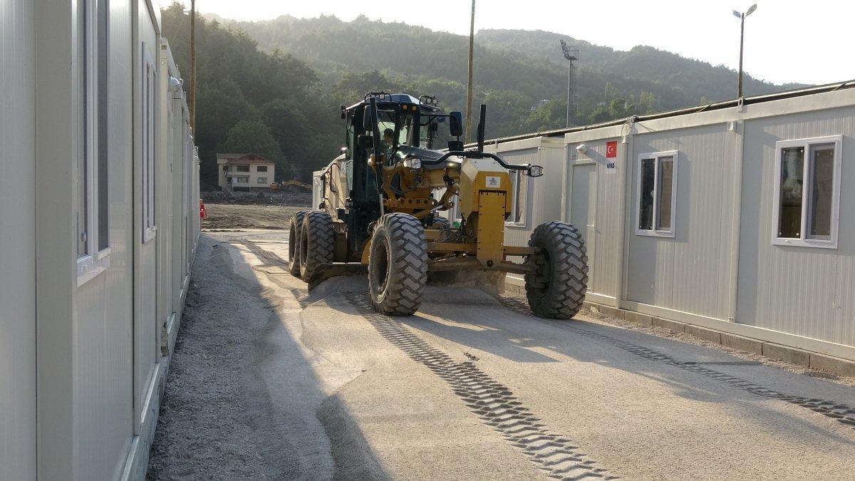 Kastamonu'da, selzedeler için  konteyner evler inşa ediliyor #9