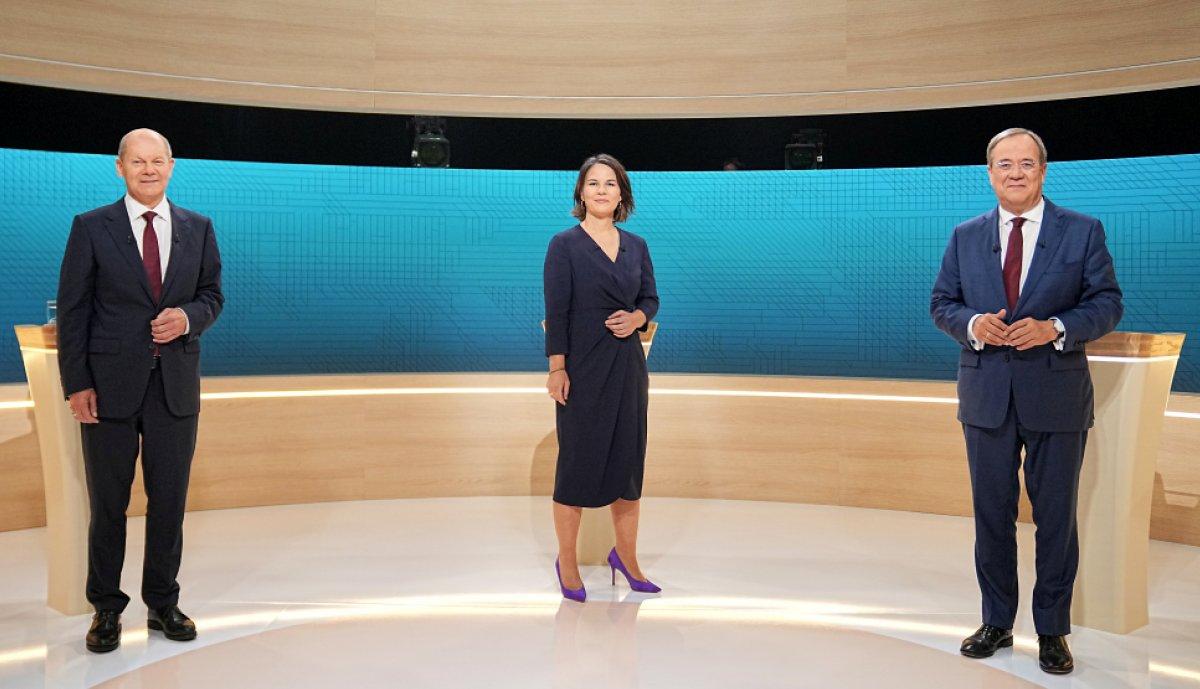 Almanya'da başbakan adayları, canlı yayında tartıştı