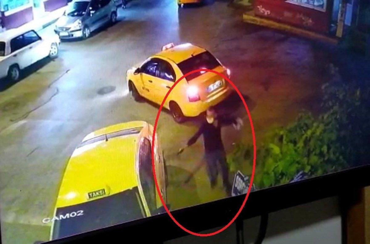 Ankara'da, taksi durağında kardeşine silahla saldırdı #1