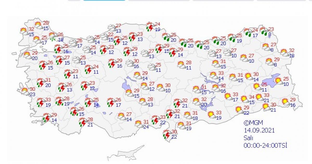 Meteoroloji uyardı: İstanbul da şiddetli yağış bekleniyor #2