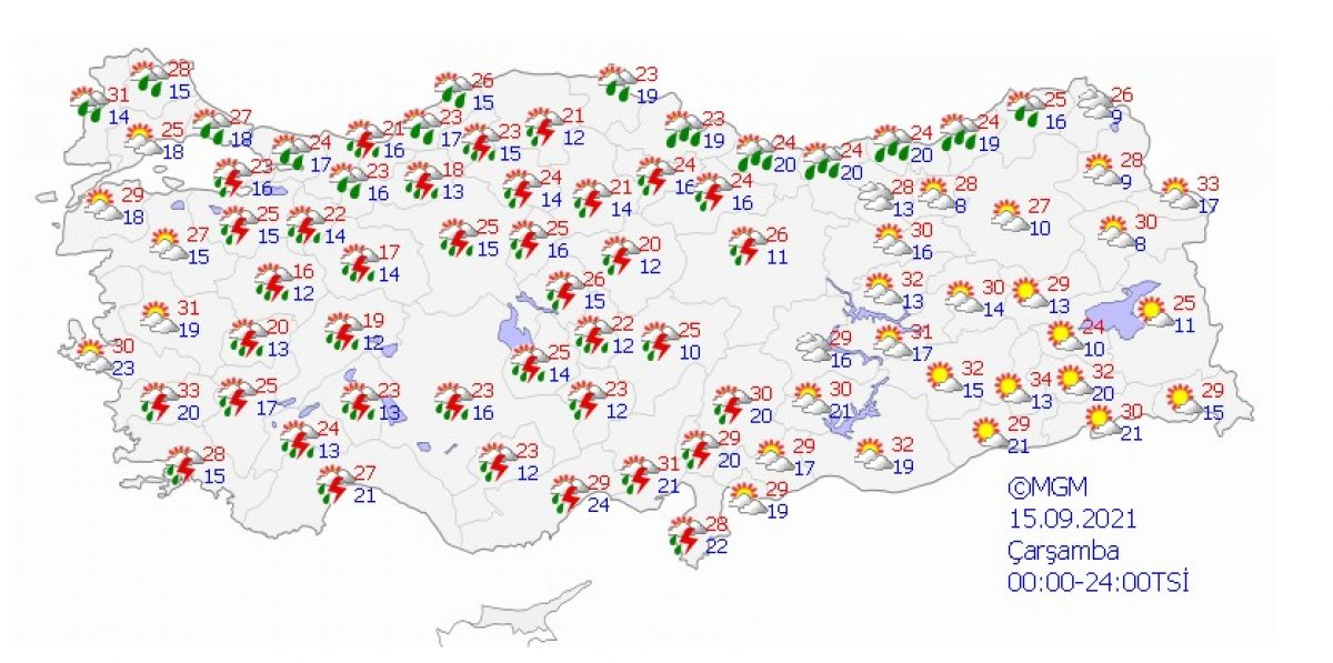 Meteoroloji uyardı: İstanbul da şiddetli yağış bekleniyor #3