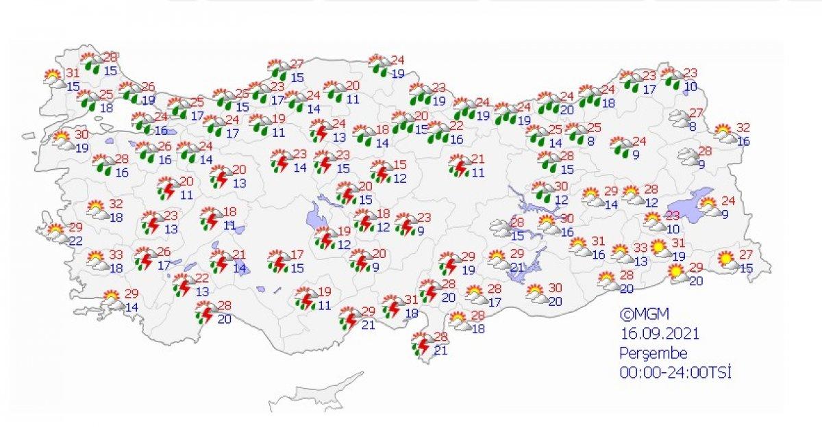 Meteoroloji uyardı: İstanbul da şiddetli yağış bekleniyor #4