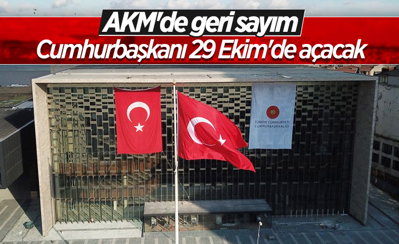 29 Ekim'de açılacağı açıklanan AKM'de son durum havadan görüntülendi