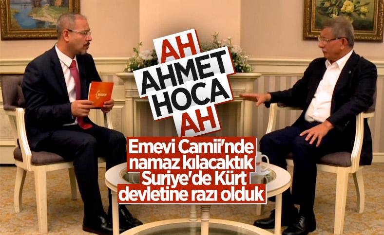 Ahmet Davutoğlu: Suriye'de Kürtler için federasyon kararı alınırsa saygı gösterilmeli